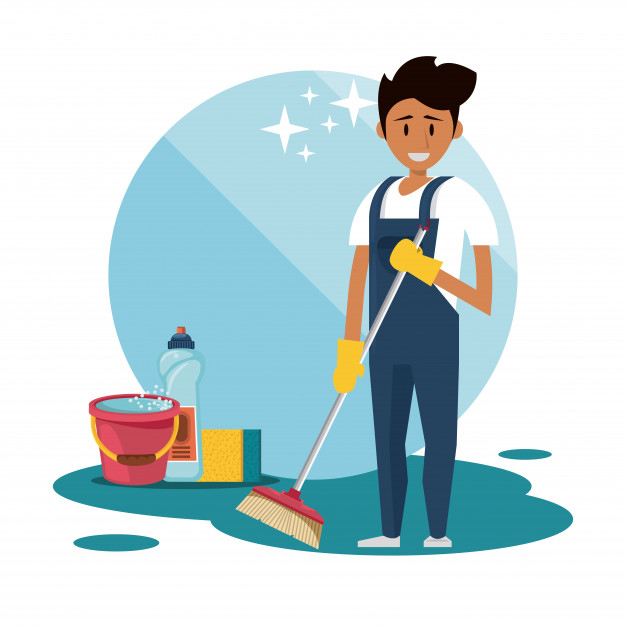Permanently attached cleaning staff